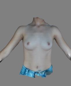 simulation 3D avant l'augmentation mammaire à Nice